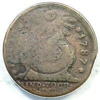 1787 15 Y ANACS G 4 POINTED RAYS FUGIO COLONIAL COPPER COIN