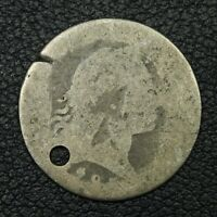 1795 FLOWING HAIR SILVER HALF DIME - HOLED & DAMAGED