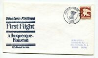 WESTERN AIRLINES FIRST FLIGHT ALBUQUERQUE NEW MEXICO   HOUST