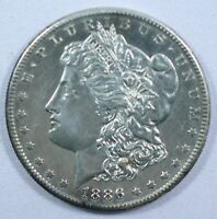 {DO657D} 1886-S MORGAN DOLLAR UNC - CLEANED