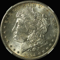 1894 S MORGAN SILVER DOLLAR NGC MINT STATE 62