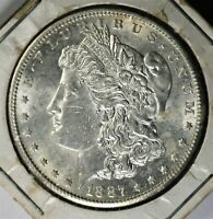 1887 S MORGAN DOLLAR - LUSTEROUS - APPEARS TO BE CLOSE TO BU
