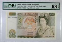 Click now to see the BUY IT NOW Price! GREAT BRITAIN 50 POUNDS 1991 93 ENGLAND P 381C B361 SUPERB GEM 68 EPQ LOW S/N