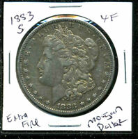1883 S EXTRA FINE  MORGAN DOLLAR EXTRA FINE 90 US SILVER $1 SHIPPING ADD ONS COIN 4587