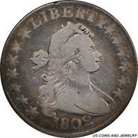 1802 DRAPED BUST HALF DOLLAR PCGS GENUINE GREAT EARLY US COIN WITH HIDDEN COLOR