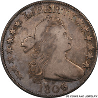 1806  DRAPED BUST HALF DOLLAR PCGS GENUINE O-112 6 OVER INVERTED 6