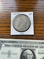 1887-S MORGAN SILVER DOLLAR & TWO SEQUENTIALLY NUMBERED SILVER CERTIFICATES LOT