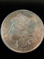 1892 $1 MORGAN DOLLAR UNCIRCULATED BETTER DATE 90 SILVER US COIN TONED