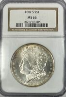 1882 S $1.00 MORGAN SILVER DOLLAR NGC MINT STATE 66 11988