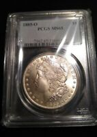 1885 O $1 MORGAN DOLLAR PCGS MINT STATE 65 GEM UNCIRCULATED SILVER US COIN