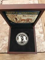 2016  BATTLE OF HASTINGS GUERNSEY SILVER PROOF 5 COIN CASED
