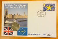 UNCIRCULATED 1992/3 BRITISH PRESIDENCY 50P COIN /COVER