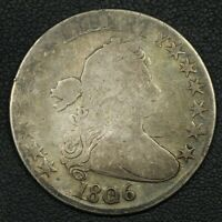 1806 DRAPED BUST SILVER HALF DOLLAR - CLEANED