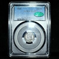 1831 CAPPED BUST HALF DIME  PCGS AU-55 CAC  H10C ALMOST UNCIRCULATED TRUSTED