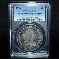 1796 DRAPED BUST SILVER DOLLAR  PCGS VF-20 $1 SMALL DATE LARGE LETTERTRUSTED