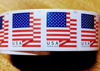 1 ROLL OF 100 USPS FOREVER U.S. FLAG STAMPS 2017 OR 2018  $5