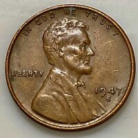 1947-S LINCOLN PENNY. YOUR ACTUAL COIN IN PHOTO