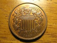 1865 2C TWO CENT SHIELD PIECE SECOND YEAR LUSTROUS UNCIRCULA