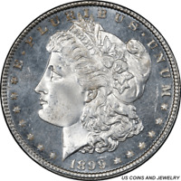 1899-P MORGAN SILVER DOLLAR PCGS MINT STATE 65PL -  WHITE COIN