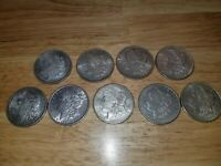 LOT OF 9 MORGAN SILVER DOLLARS   ASSORTED DATES AND MINTS  C