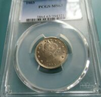 1903 LIBERTY NICKEL PCGS MS 63 NICE COIN FOR THE GRADE  GOOD