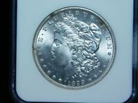 1899-P $1 MORGAN SILVER DOLLAR - NGC MINT STATE 64 GORGEOUS  COIN