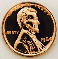 1964 EXQUISITE PROOF LINCOLN CENT  RED    ABSOLUTELY FLAWLES
