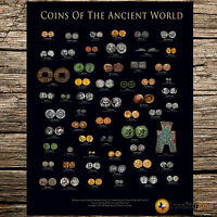 COINS OF THE ANCIENT WORLD   COIN WALL POSTER