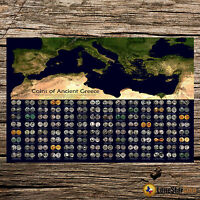 COINS OF ANCIENT GREECE   COIN WALL POSTER