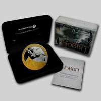 NEW ZEALAND HOBBIT SET  2013   SILVER $1 PROOF COIN  1 OZ DESOLATION OF SMAUG