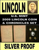 LINCOLN CHRONICLES SET 2009 SILVER DOLLAR SET GETTYSBURG ADDRESS & SLEEVE