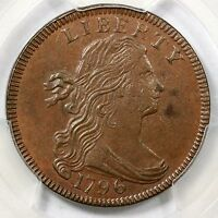 1796 S-119 R3 PCGS MINT STATE 62BN REVERSE OF 1797 DRAPED BUST LARGE CENT COIN 1C