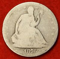 1876 S SEATED LIBERTY HALF DOLLAR AG BEAUTIFUL COIN CHK OUT STORE   $ SH32
