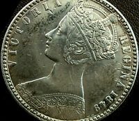 NARKYPOON 'S LY HIGH GRADE 1849 VICTORIA 'GODLESS' STERLING SILVER FLORIN
