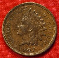 1907 INDIAN HEAD CENT XF BEAUTIFUL COLLECTOR COIN CHECK OUT STORE IH676