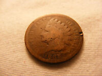 INDIAN HEAD PENNY 1865   BRONZE   GOOD CIRCULATED  CONDITION   1859 1909
