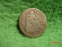 1854  LIBERTY SEATED  HALF DIME   GOOD  ARROWS     SILVER