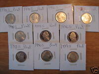 1990 S THRU 1999 S PROOF JEFFERSON NICKELS 10 COINS A