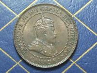 HIGH GRADE 1902 CANADIAN LARGE PENNY KING EDWARD VII OLD BRONZE COIN LOT 02A