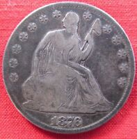 1876 SEATED LIBERTY HALF DOLLAR CENTENNIAL WITH MOTTO 2139