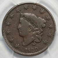 1829 N 4 R 4 PCGS VG 10 LARGE LET MATRON OR CORONET HEAD LARGE CENT COIN 1C