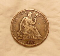 1875 S LIBERTY SEATED HALF   NICE LOOKING COIN
