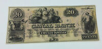 1800'S  $20 NEW ORLEANS CANAL & BANKING CO. NOTE  UNC