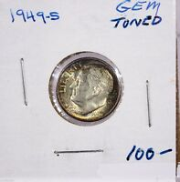 RAW 1949 S ROOSEVELT 10C UNCERTIFIED UNGRADED SAN FRANCISCO SILVER DIME COIN US