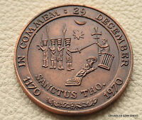 1970 BECKET MEDAL LARGE  BRONZE ISSUE WRONG CASE 50MM 55GRAMS FFE1