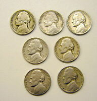 1942/44/45/46/47/52/53 P JEFFERSON 5 CENT USA COINS YOUR CHOICE OF ONE
