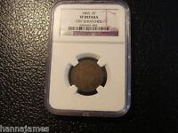 CIVIL WAR 1865 2 CENT PIECE NGC GRADED VF OBV SCRATCH WE COMBINE ON SHIPPING