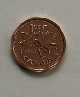 1994 CANADIAN 1 CENT MS 65 NC RED
