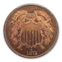 1872 2C TWO CENT PIECE PCGS MINT STATE 65RB