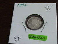 1896 CANADIAN SILVER FIVE CENT COIN    EXCELLENT CONDITION   ZBH1700